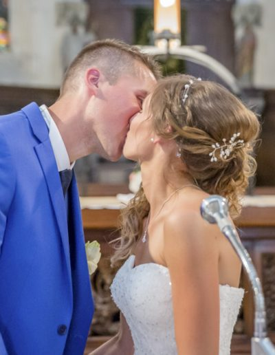 baiser dans l'église