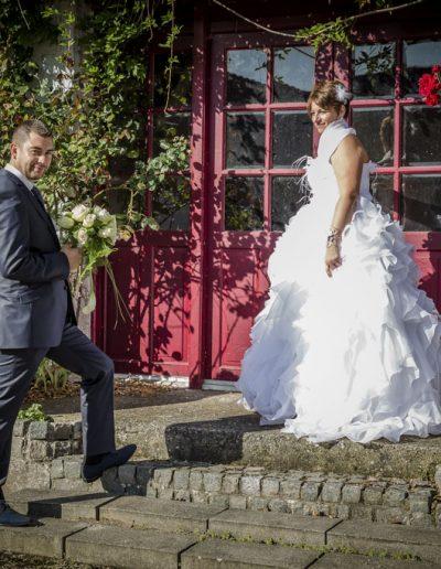 Mariés dehors